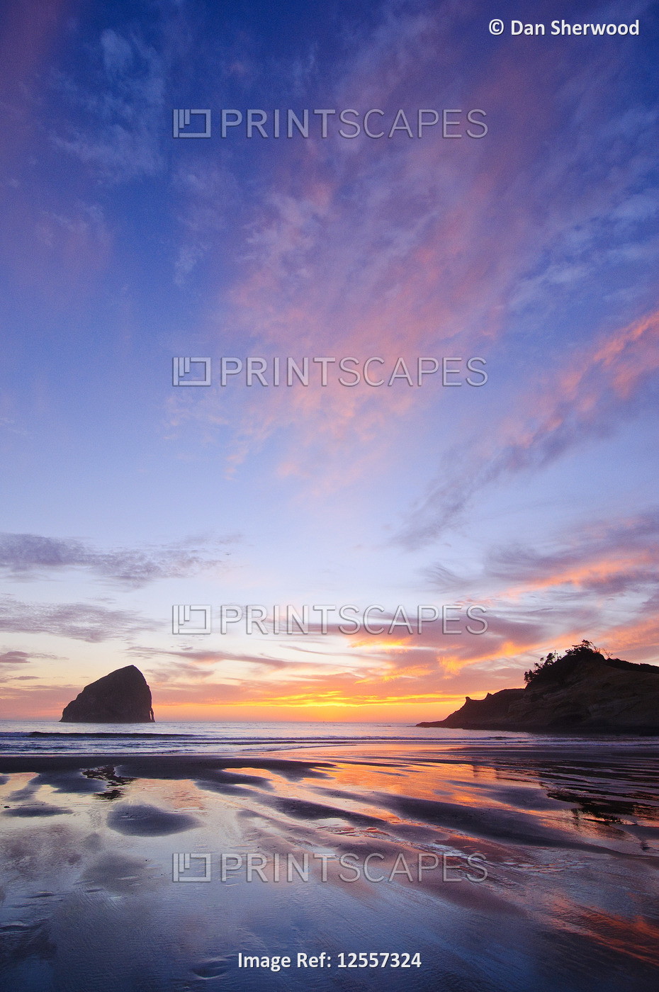 Sunset Skies over Haystack Rock and Cape Kiwanda - Pacific City, Oregon